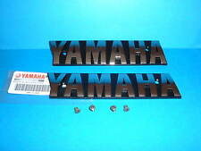 YAMAHA  XS1100  Special  Fuel  Tank  Emblems  Badges in SILVER plus Screws OEM