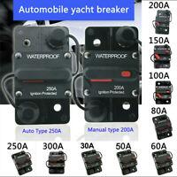 30-300 Amp Car Circuit Breaker Fuse Reset 12V-48V DC Car Boat Auto Waterproof