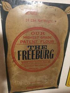Vintage Tin Flour Sack Advertising Sign