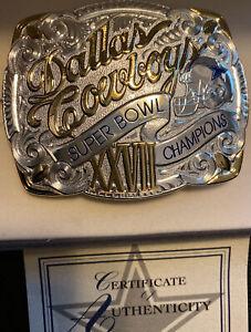 Dallas Cowboys Super Bowl XXVII Champions Commemorative Belt Buckle