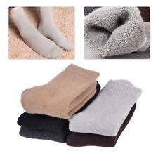 5 paar Kaschmir weich wolle socken warme dicke damen Men Solid Socks Winter