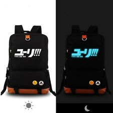 YURI!!! on ICE Katsuki Yuri Backpack Shoulder Bag With Laptop Bag New 02