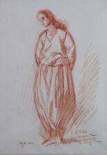 Ferdinand FARGEOT (1880-1957) Sanguine orientaliste Alger villa Abd-el-Tif Lyon