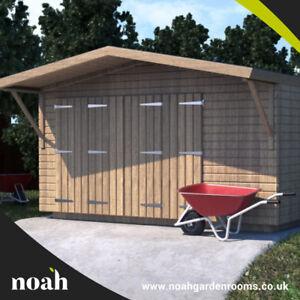 16x10 'Swindon Garage' Heavy Duty Wooden Garden Shed/Workshop/Garage