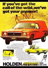 "1975 HJ HOLDEN SANDMAN PANEL VAN AD A2 CANVAS PRINT POSTER FRAMED 23.4""x16.5"""