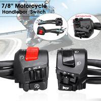 "Pair Universal Motorcycle 7/8"" Handlebar Switch Horn Turn Signal Headlight"
