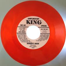 """MAC CURTIS - """"GRANDADDY'S ROCKIN"""" c/w """"HALF HEARTED LOVE"""" - RED VINYL - LISTEN"""