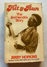 JIMI HENDRIX  HIT & RUN BY JERRY HOPKINS  LARGE PAPERBACK BOOK