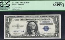 $1 1935A Mule Silver Certificate. Fr. 1608m. Tough VA Block. PCGS 66Q.