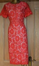 COAST CORAL NUDE LACE EVENING SPECIAL OCCASION PARTY DRESS SIZE 14/12