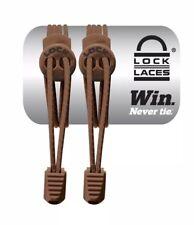 LOCK LACES (Elastic No Tie Shoelaces) Brown