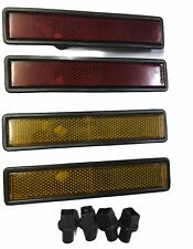 BMW  SIDE MARKER LIGHT LENS FRONT & BACK,RED &YELLOW,FOR E30,E32,E34,E36