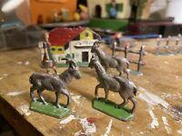 animali fattoria Zinco Inizio 1900 No Lineol