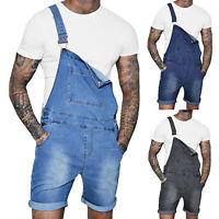 Men's Shorts Denim Overalls Suspender Trousers Bib Pants Skinny Jean Jumpsuits
