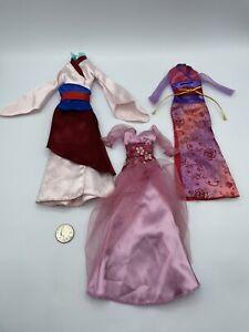BARBIE DISNEY PRINCE PRINCESS DOLL LOT CLOTHING DRESS KIMONO MULAN JAPAN