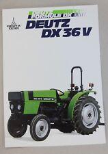 prospectus brochure tracteur DEUTZ FAHR DX 36 V  tractor traktor prospekt