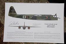 Famous Luftwaffe Jet! Signed by the Pilot, Aviation Art, Ernie Boyette
