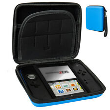Carry Storage Hard Protective Case Cover For Nintendo 2DS Game With Zip Blue