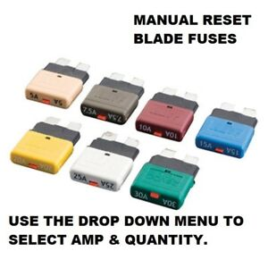 Manual Reset Blade Fuse Circuit Breaker Blade Fuses Trip Function (5-30amp) FU42