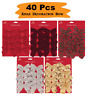 40 x Christmas Tree Mix Bow Decoration Baubles XMAS Party Garden Bows Ornament