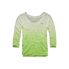 Gilly Hicks size XS Abercrombie green ombre 3/4 sleeve top