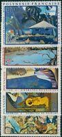 French Polynesia 1971 Sc#C78-C82,SG147-151 Paintings set MNH