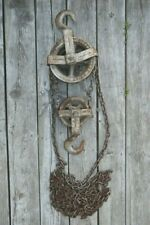 Vintage One Ton Differential Chain Hoist / Block / Pulley / Made In Canada