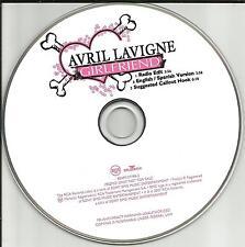 AVRIL LAVIGNE Girlfriend w/ SPANISH & RADIO EDIT PROMO Radio DJ CD single 2007