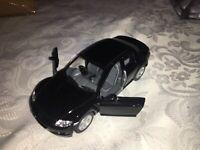 1:36 KINSMART MAZDA RX 8 BLACK DIECAST MODEL CAR OPENING DOORS PULLBACK