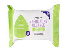 25 EXFOLIATING WIPES Paraben Free Cleansing Face Towels Vitamin E Wrinkles Free