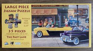 Sunsout The Past Lane Large Piece Jigsaw Puzzle 35 Piece