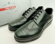 PRADA DK Green Leather Shoes Brogues UK10 44 US11 New authentic Trainers