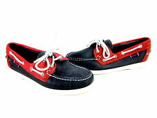 SEBAGO SPINNAKER WOMEN'S COMFORT BOAT SHOES RED LEATHER DOCKSIDES US SIZE 7 MED