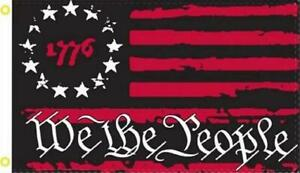 1776 We the People 3' x 5' Flag Patriot USA  American Liberty Betsy Ross Banner