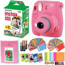 Fujifilm Instax Mini 9 Instant Camera (Flamingo Pink) + 20 Sheet Film + Acc Kit