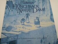 "1997 DISNEY STORE LITHOGRAPH: Hunchback Of Notre Dame 11"" x 14"" Litho"