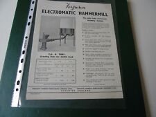 Ferguson Electromatic Hammermill FOLLETO.. original folleto de ventas