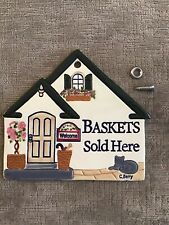 Longaberger Homestead Carol Berry Baskets Sold Here Plaque Sign * Hard To Find