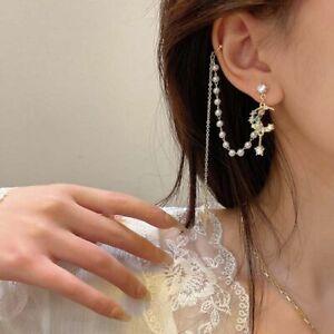 Tassel Fashion Jewelry Ear Clips Women Earrings Dangle Korean Style GB