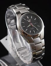 SEIKO 5 SNK607K1 Stainless Steel Band Automatic Men's Black Watch New & Gift