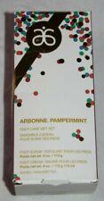 Arbonne Pampermint Foot Care Gift Set Foot Scrub, Foot Cream, Socks Holiday NIB