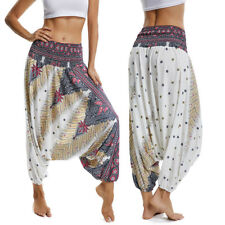 Women Thai Yoga Pants Baggy Boho Gypsy Hippie Yoga Harem Trousers Bloomers  G15