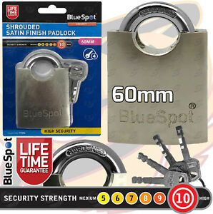HEAVY DUTY Padlock High Security Closed Shackle Chain Container Pad Lock 60mm HD