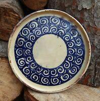 Plat en ceramique, monogramme Leon Elchinger.