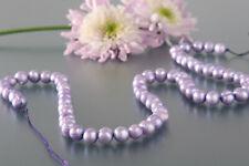 P067 Echter Süßwasser-Perlen-Strang oval 6-7mm 40cm lang offen violett