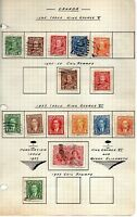 Canada 22 stamps vf used 1930-37