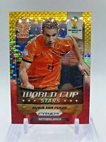 2014 Panini Prizm World Cup Stars ROBIN VAN PERSIE Yellow Red Pulsar #21