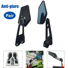 2*Universal CNC Aluminum Rearview Side Mirror Anti-glare For Motorcycle Scooter