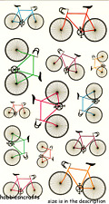COLOURFUL BICYCLES Sticko Vinyl Craft Stickers - Bikes Bike Cycles 13 stickers