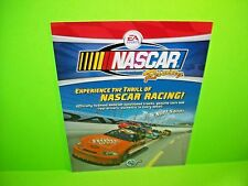 Global VR NASCAR RACING 2007 Original Video Arcade Game Promo Flyer EA Sports